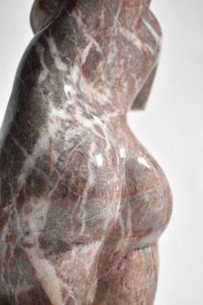 Polished Marble Torso Sculpture