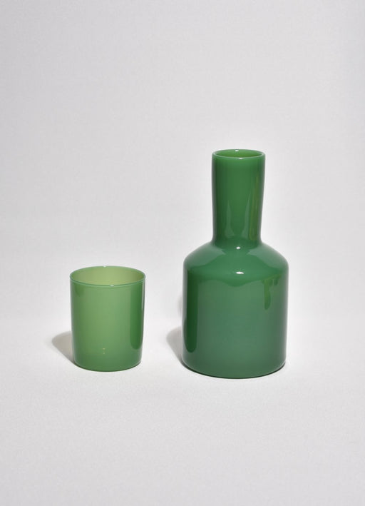 Opaque Dark Green Bedside Carafe
