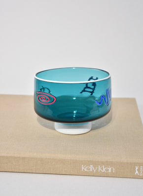 Teal Art Glass Bowl