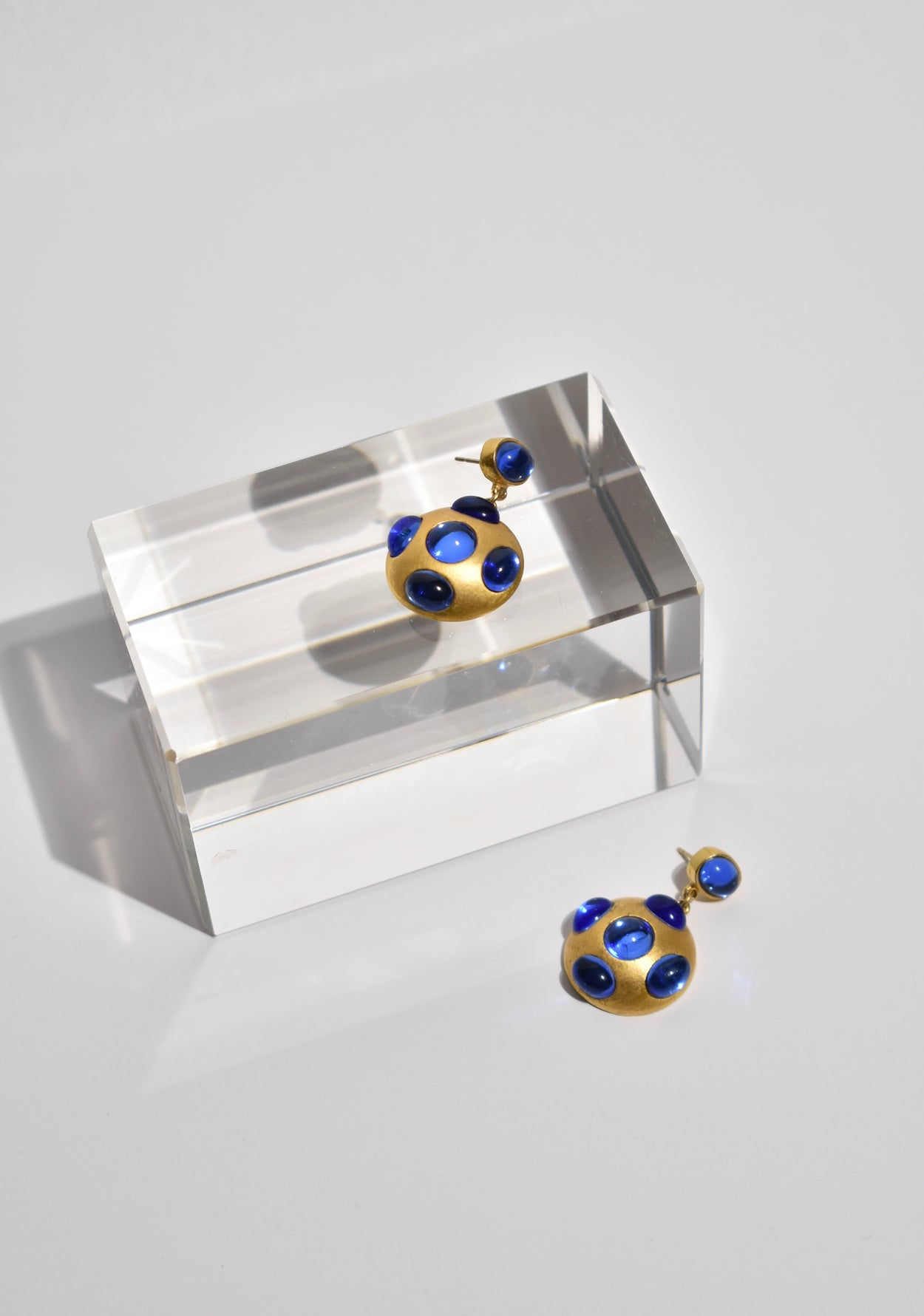 Blue Dome Earrings