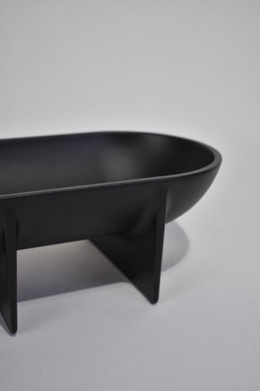 Large Standing Bowl in Black