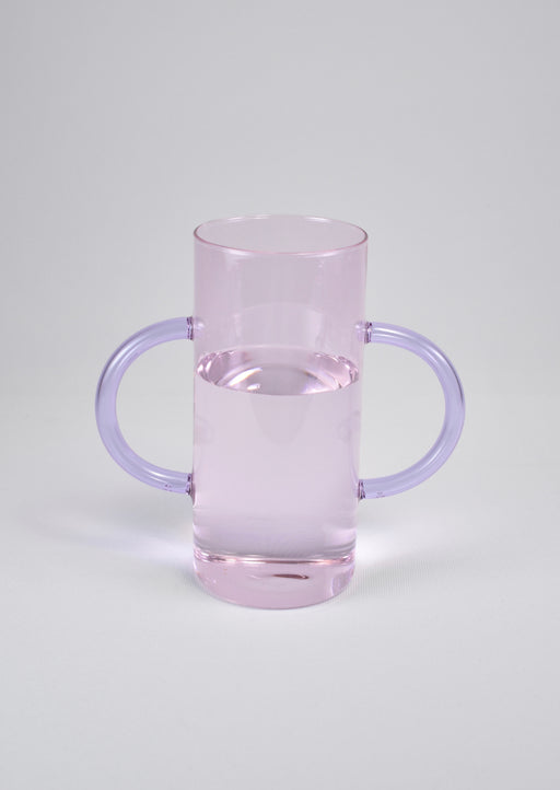 Double Handle Vase in Pink