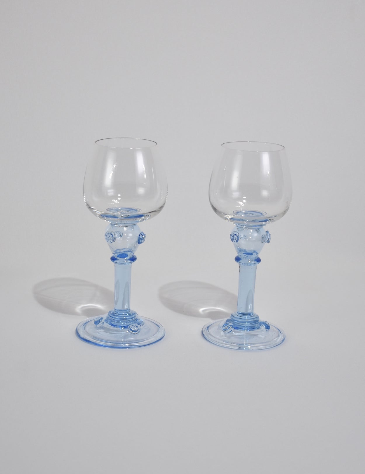 Blue Stem Goblet Set