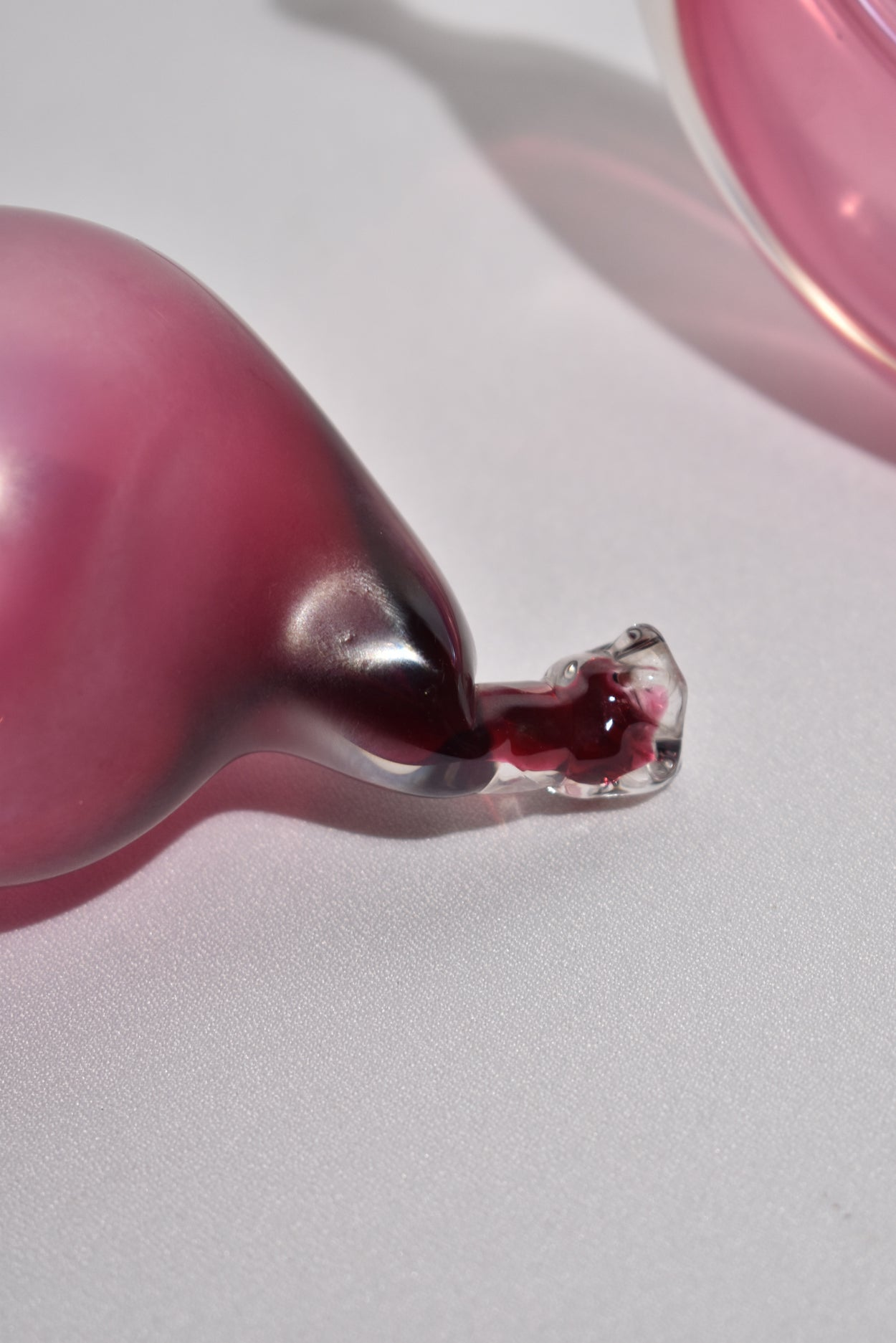 Pink Blown Glass Fruit Set