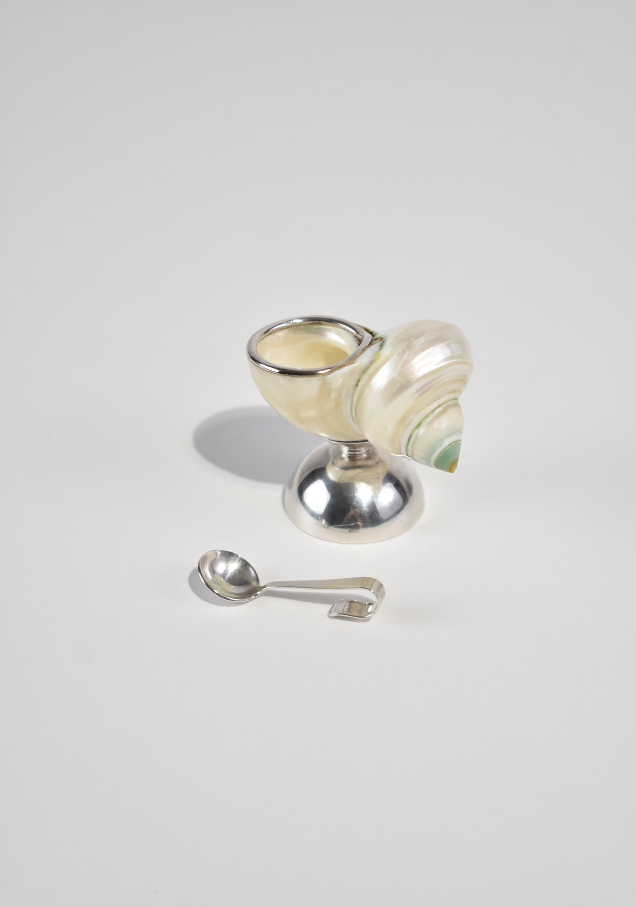 Sterling Shell Salt Cellar