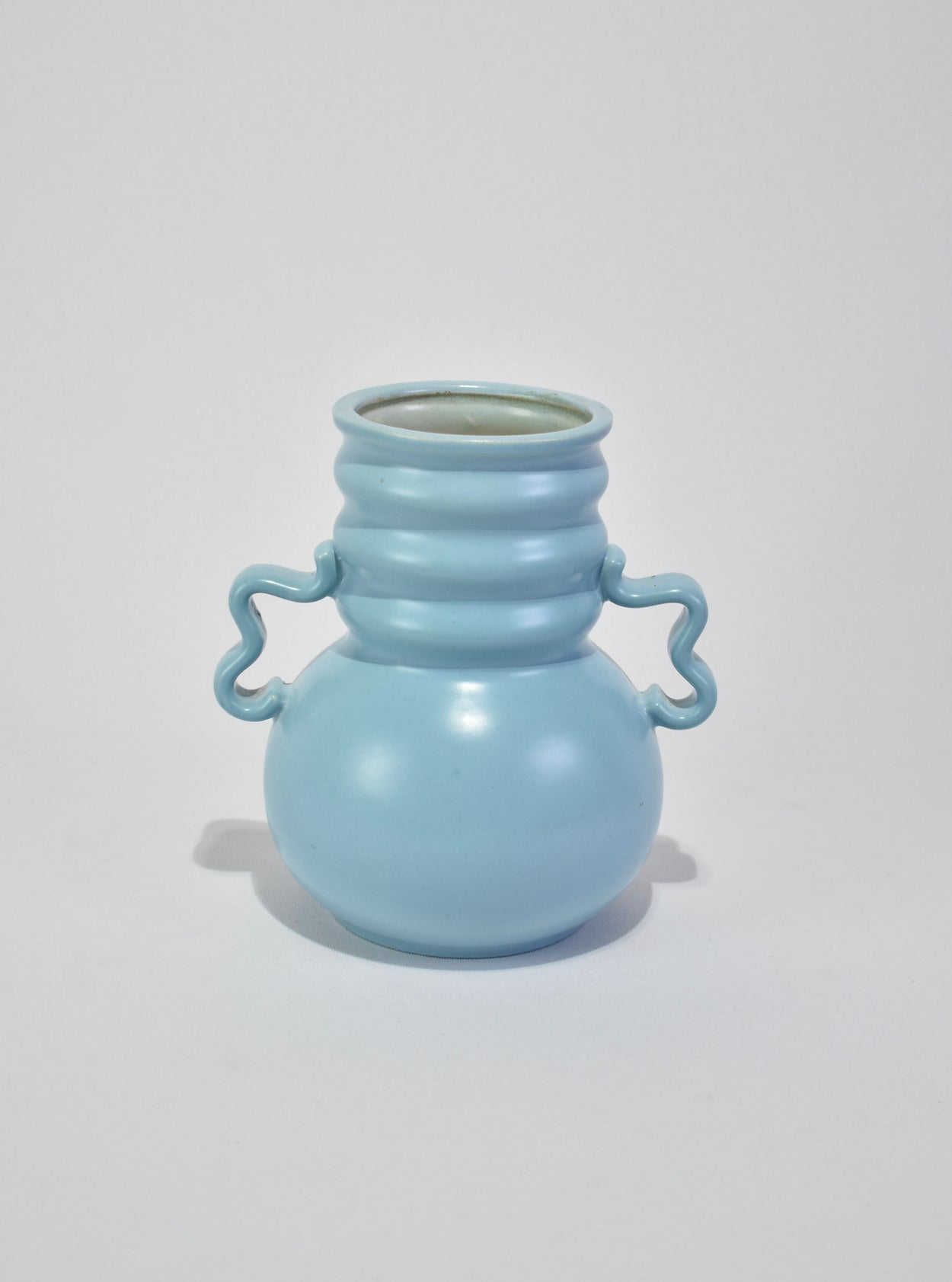 Powder Blue Ceramic Vase