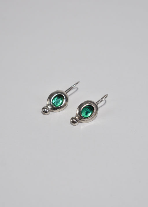 Green Sterling Earrings