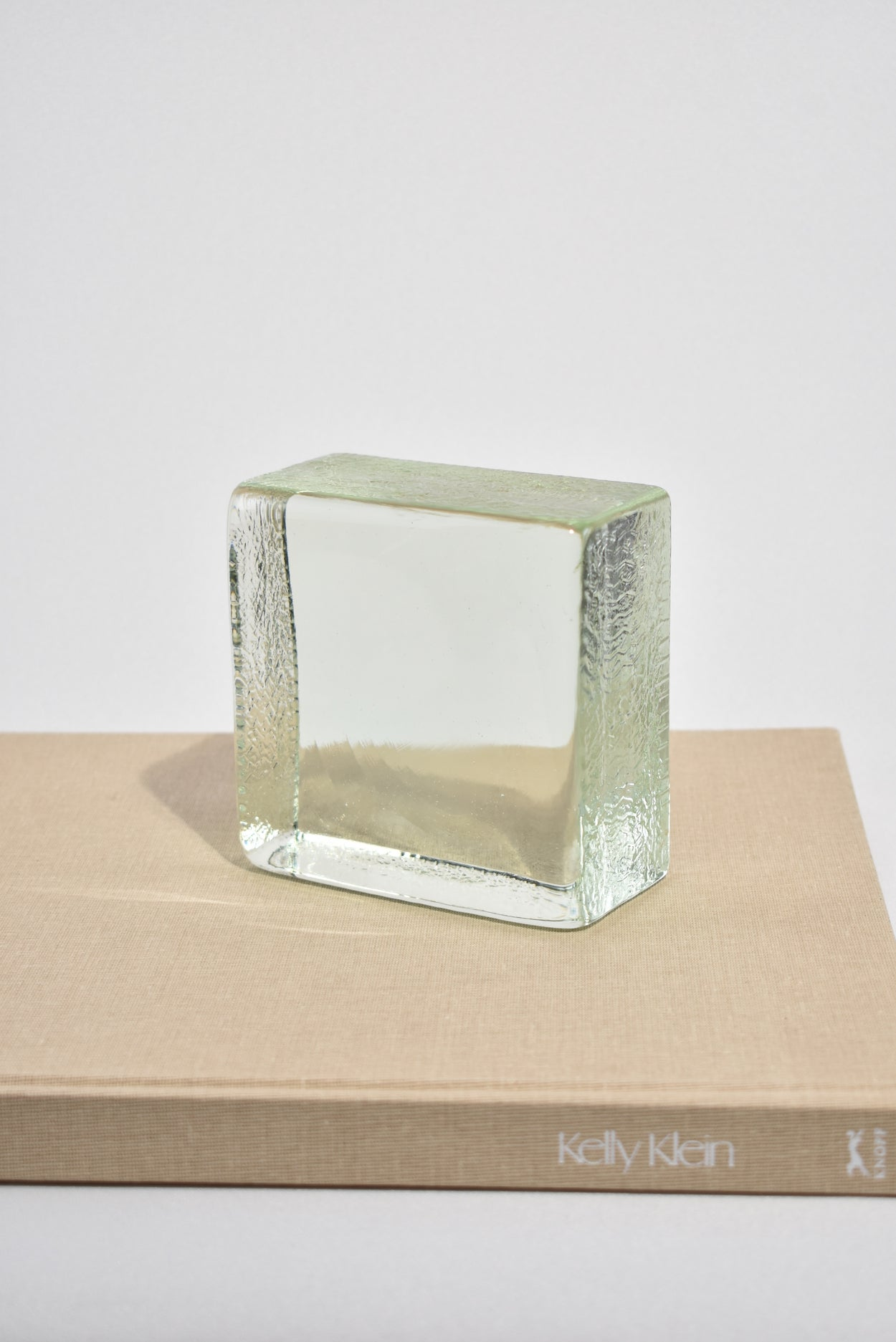 Block Glass Bookends