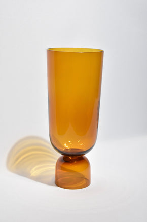 Large Bottoms Up Vase in Amber