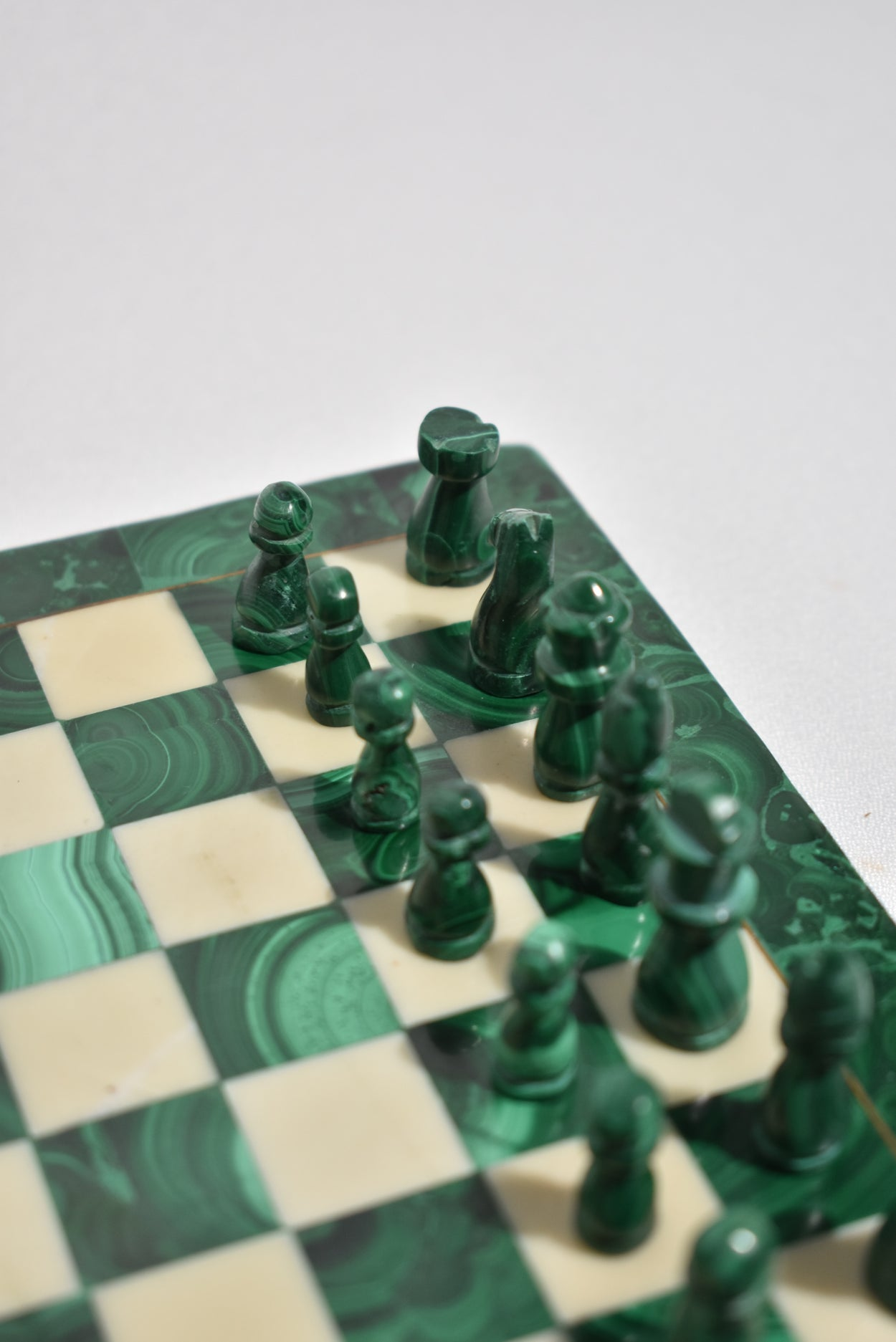 Malachite Chess Set