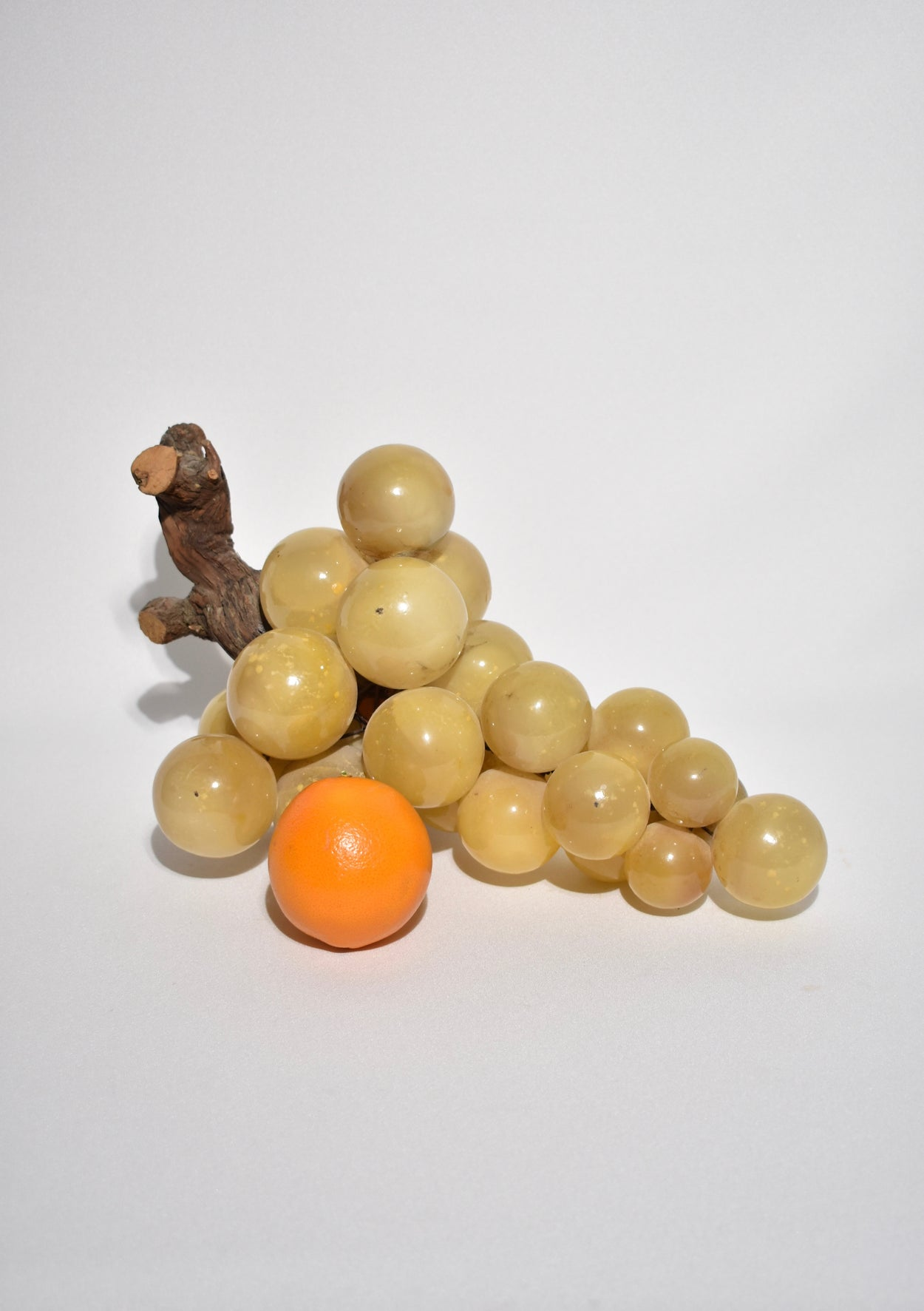 Large Alabaster Grape Sculpture