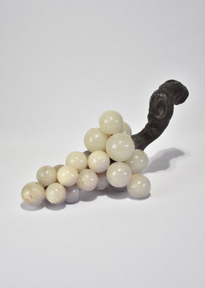 White Alabaster Grape Sculpture
