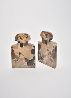 Terrazzo Marble Bookends