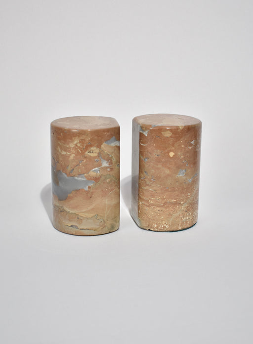 Cylindrical Stone Bookends
