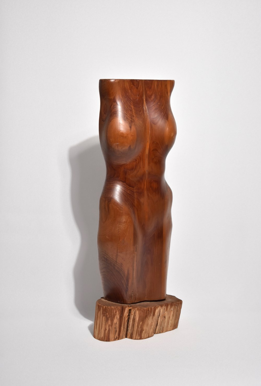 Wooden Torso Sculpture