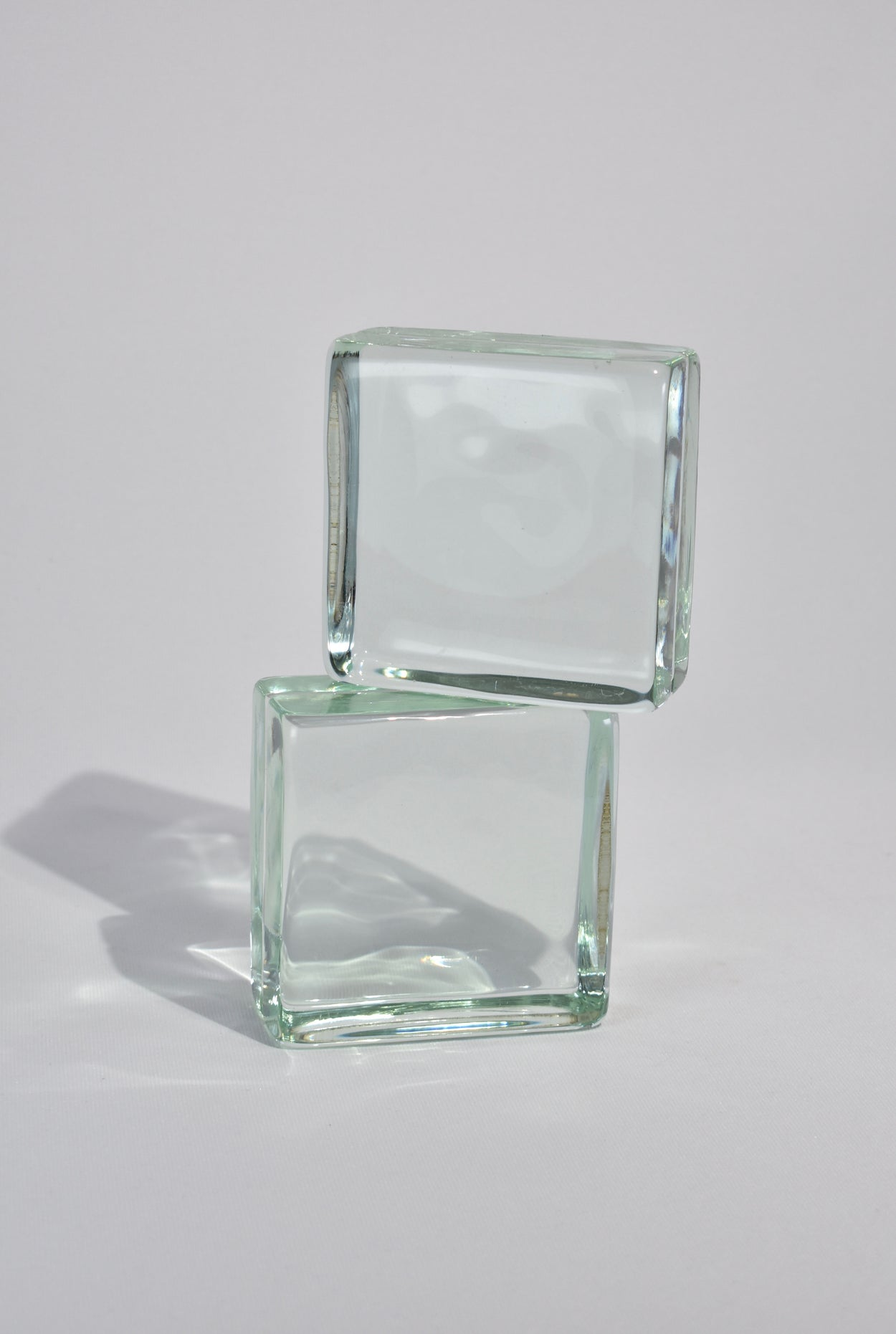Cube Glass Bookends