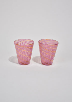Pink Cordial Glass Set