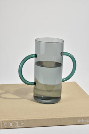 Double Handle Vase in Smoke