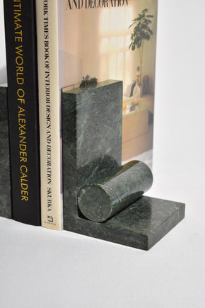 Geometric Marble Bookends