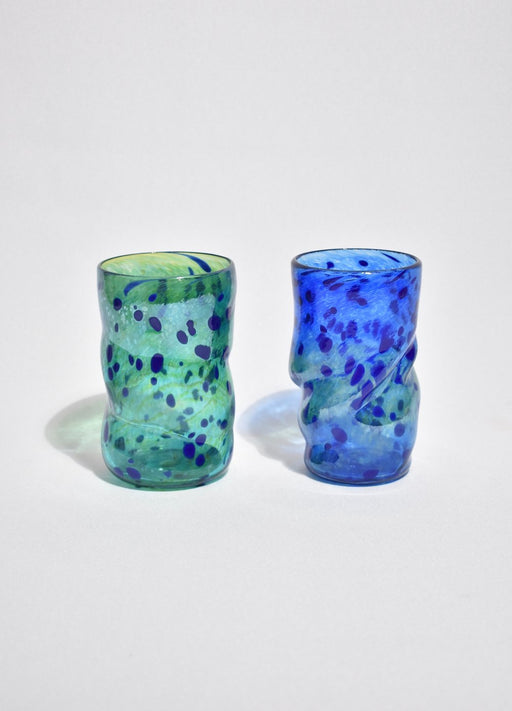Iridescent Art Glass Tumbler Set