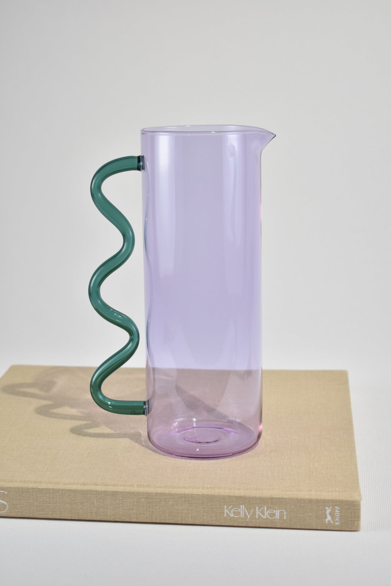 Wave Pitcher in Lilac/Teal