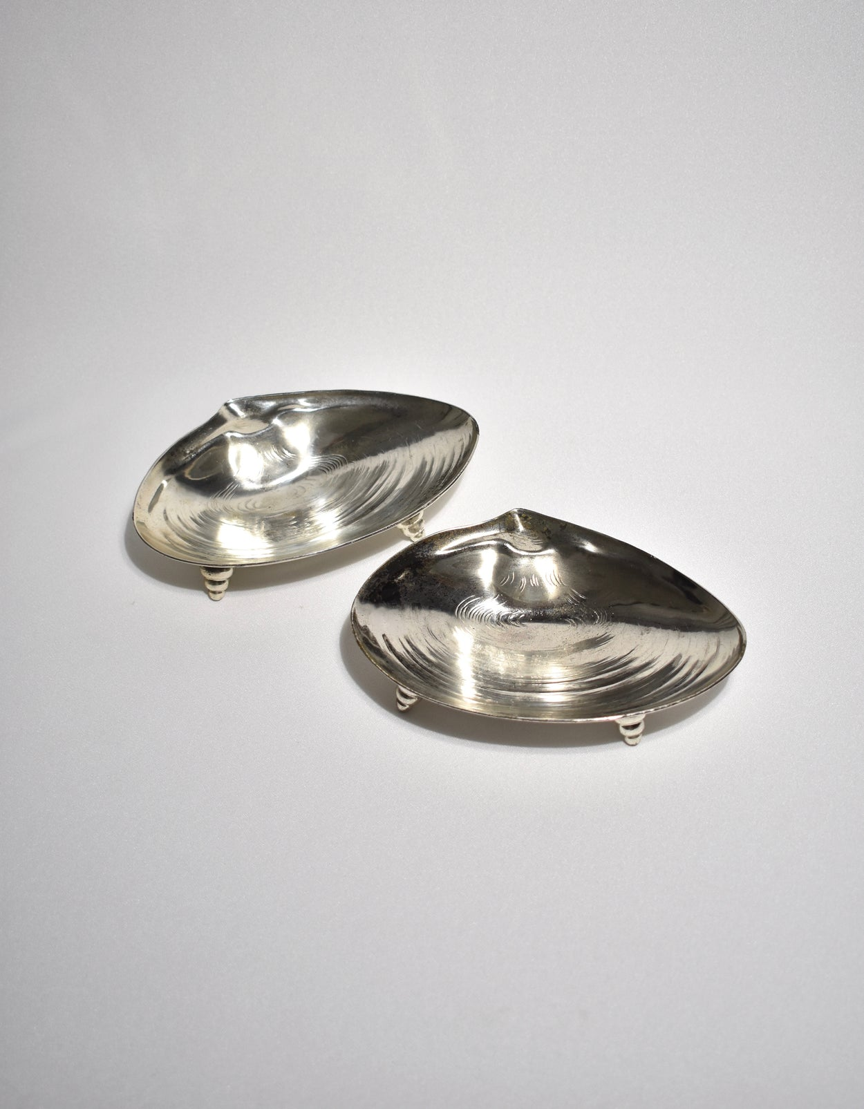 Silver Shell Dish Set
