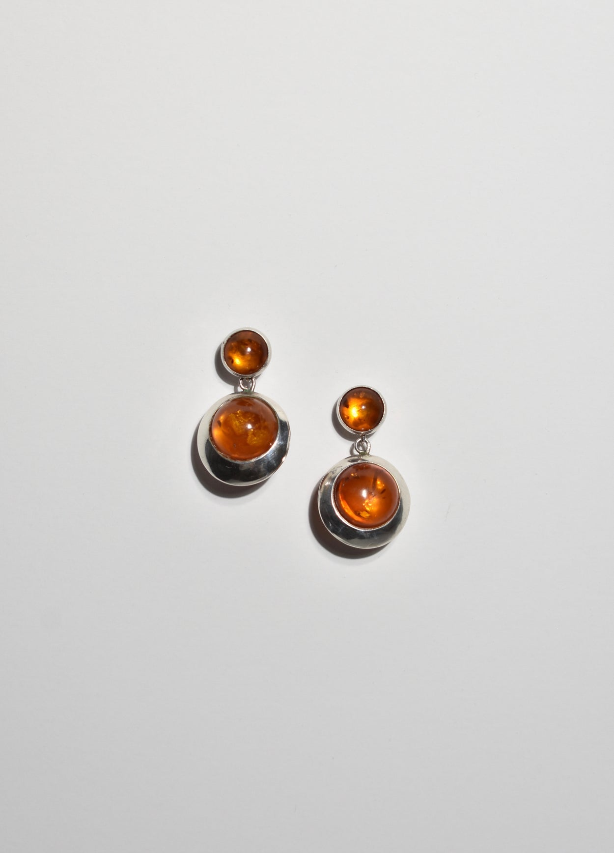 Amber Orb Earrings