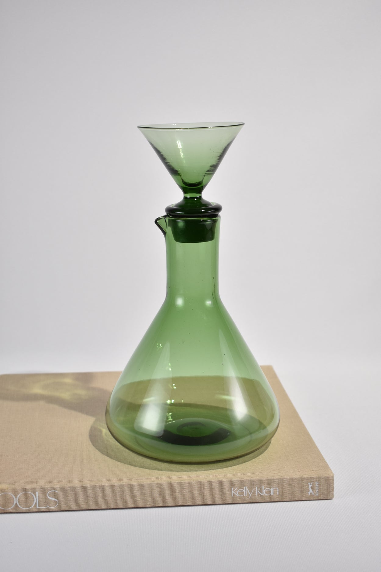 Green Glass Decanter