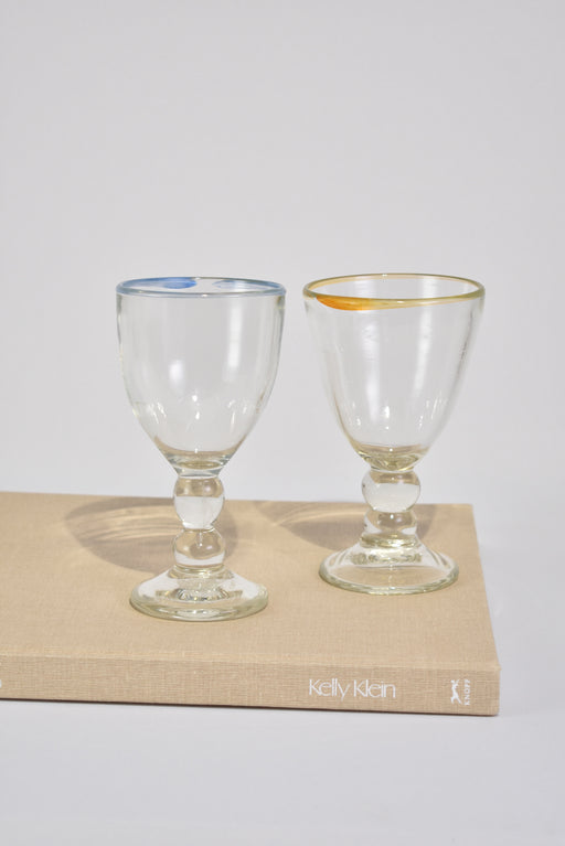 Heavy Blown Glass Goblet Set
