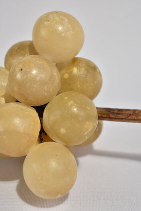 Alabaster Grape Sculpture