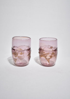 Lilac Glass Tumbler Set