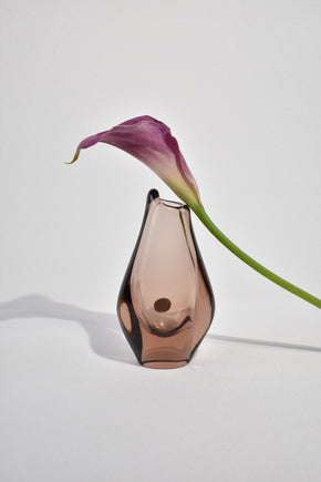 Mauve Glass Bud Vase