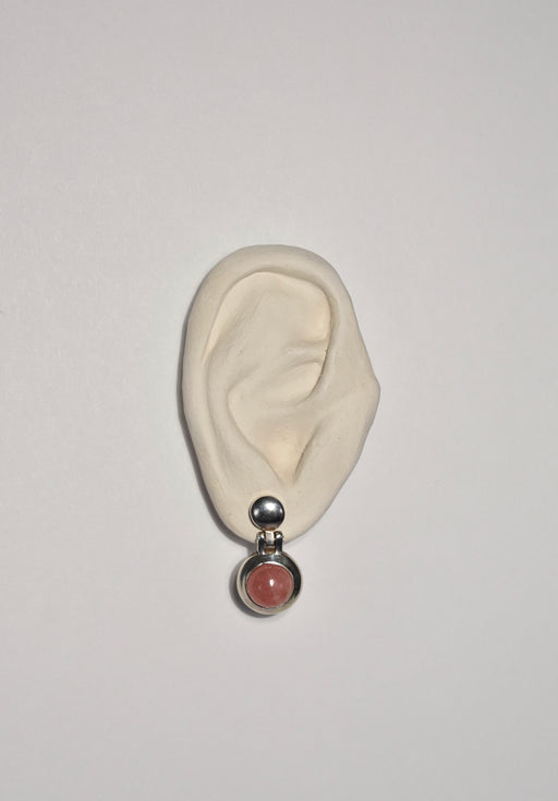 Pink Dome Earrings