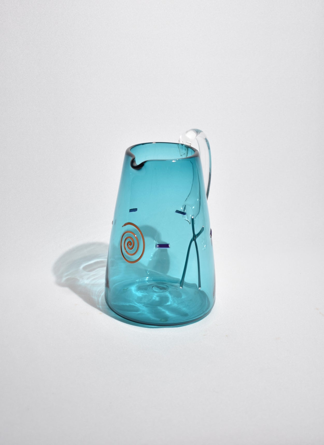 Teal Glass Pitcher