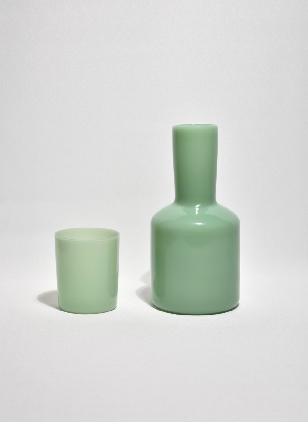 Opaque Mint Bedside Carafe