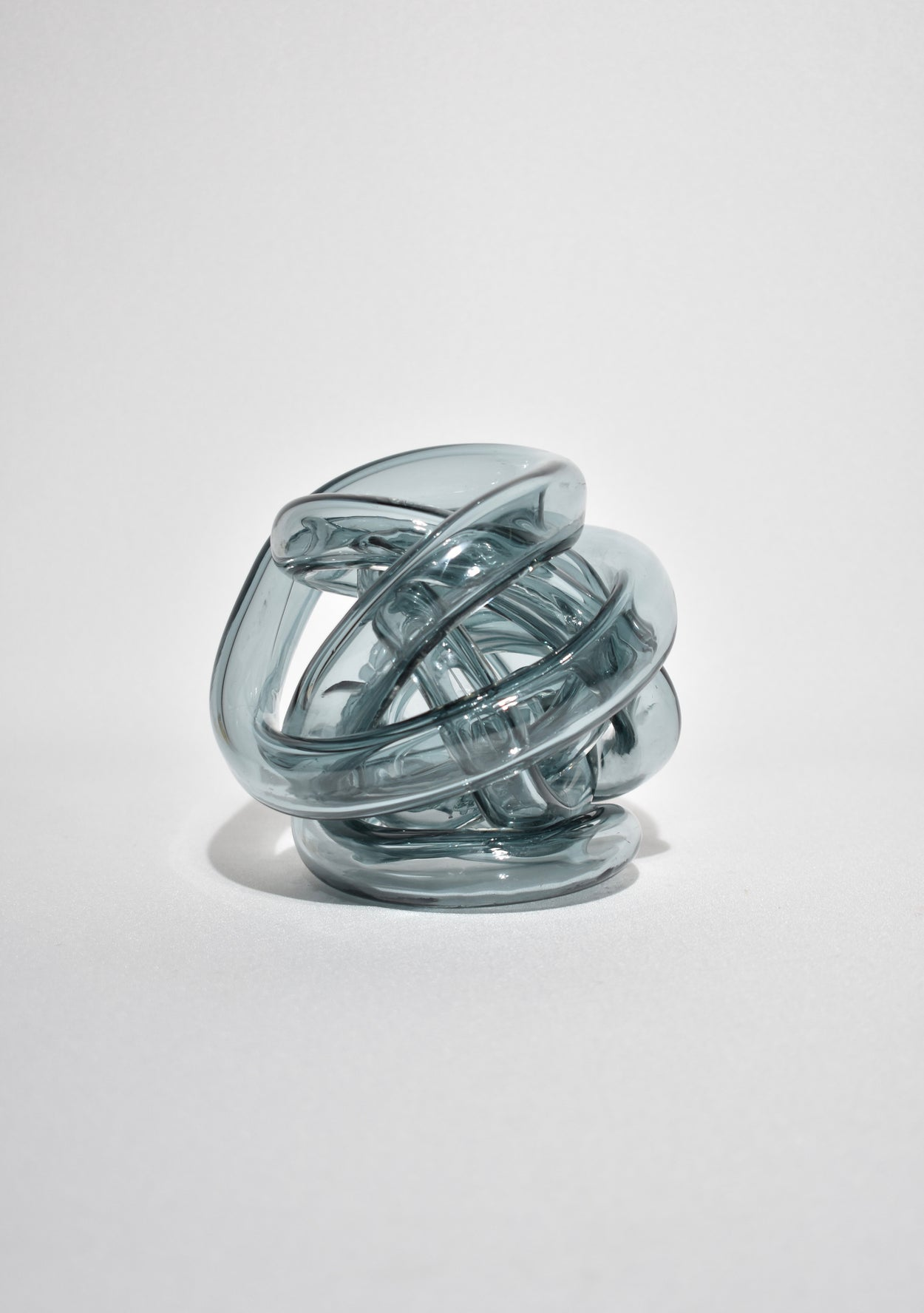 Slate Glass Knot Sculpture