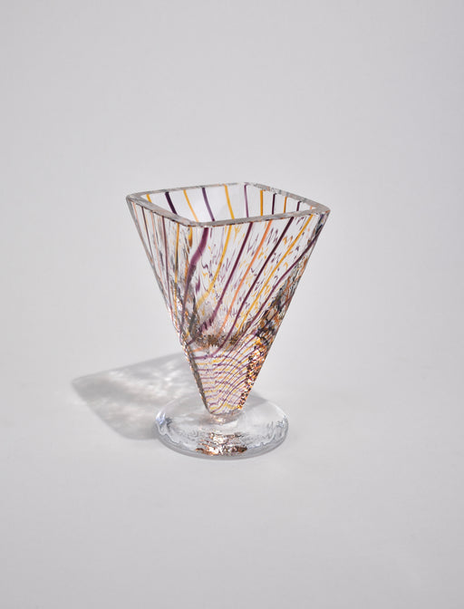 Striped Glass Vase