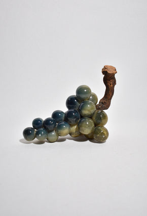 Green Alabaster Grape Sculpture