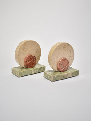 Deco Marble Bookends