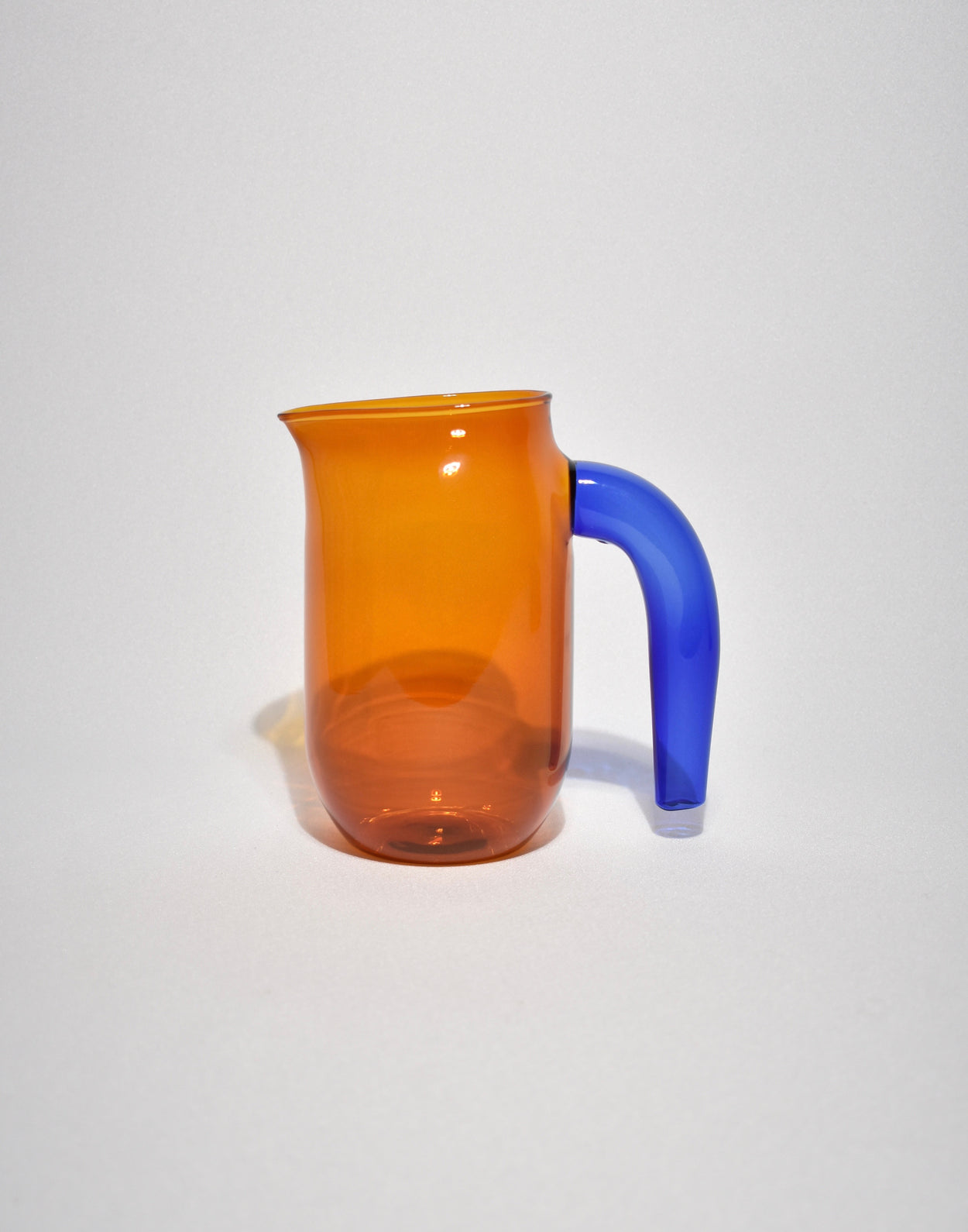 Small Amber Glass Jug