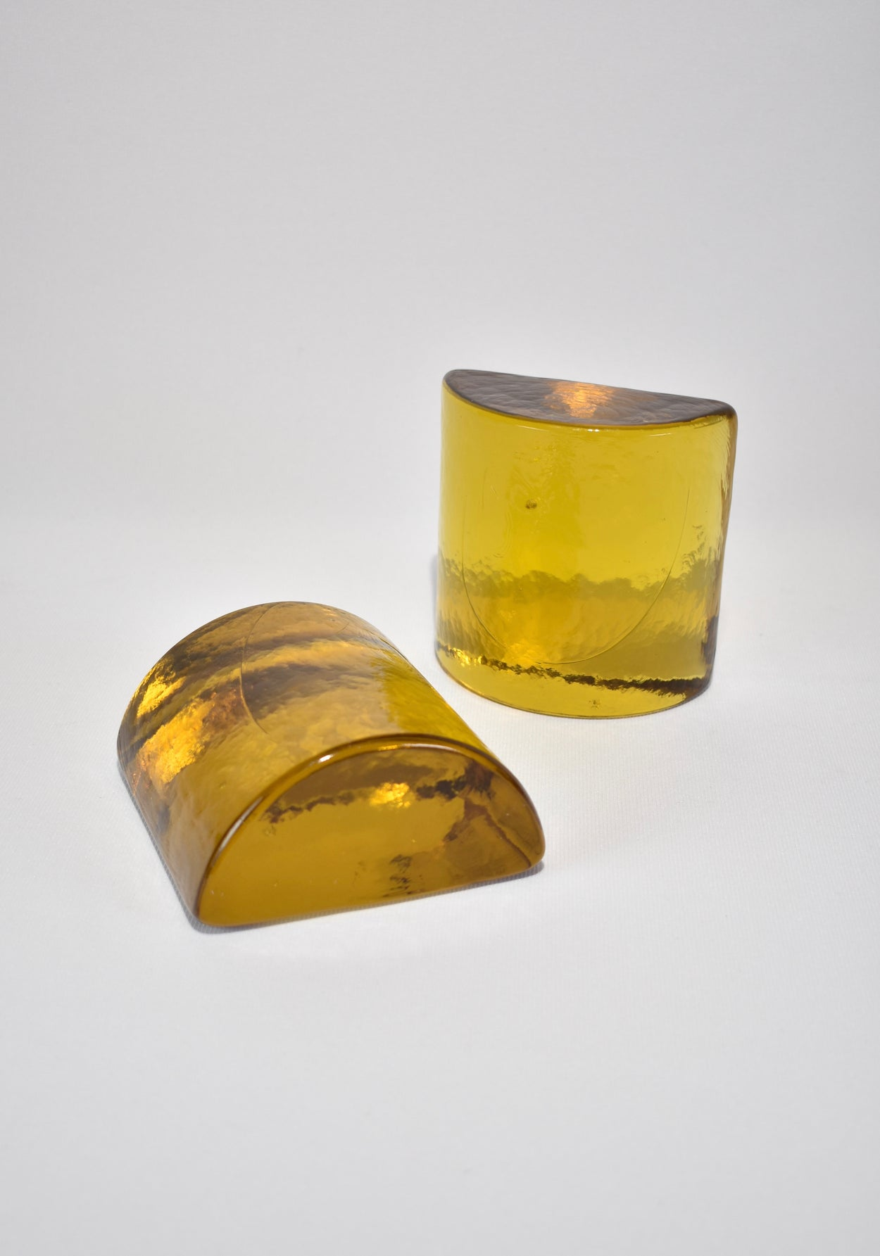 Marigold Glass Bookends