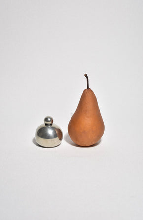 Round Pewter Flask