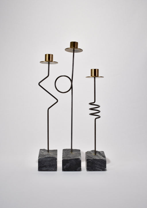 Wire Candleholder Set