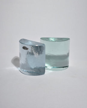 Glass Bookend Set