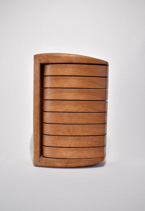 Sculptural Wooden Jewelry Box