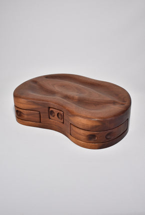 Sculpted Wood Jewelry Box