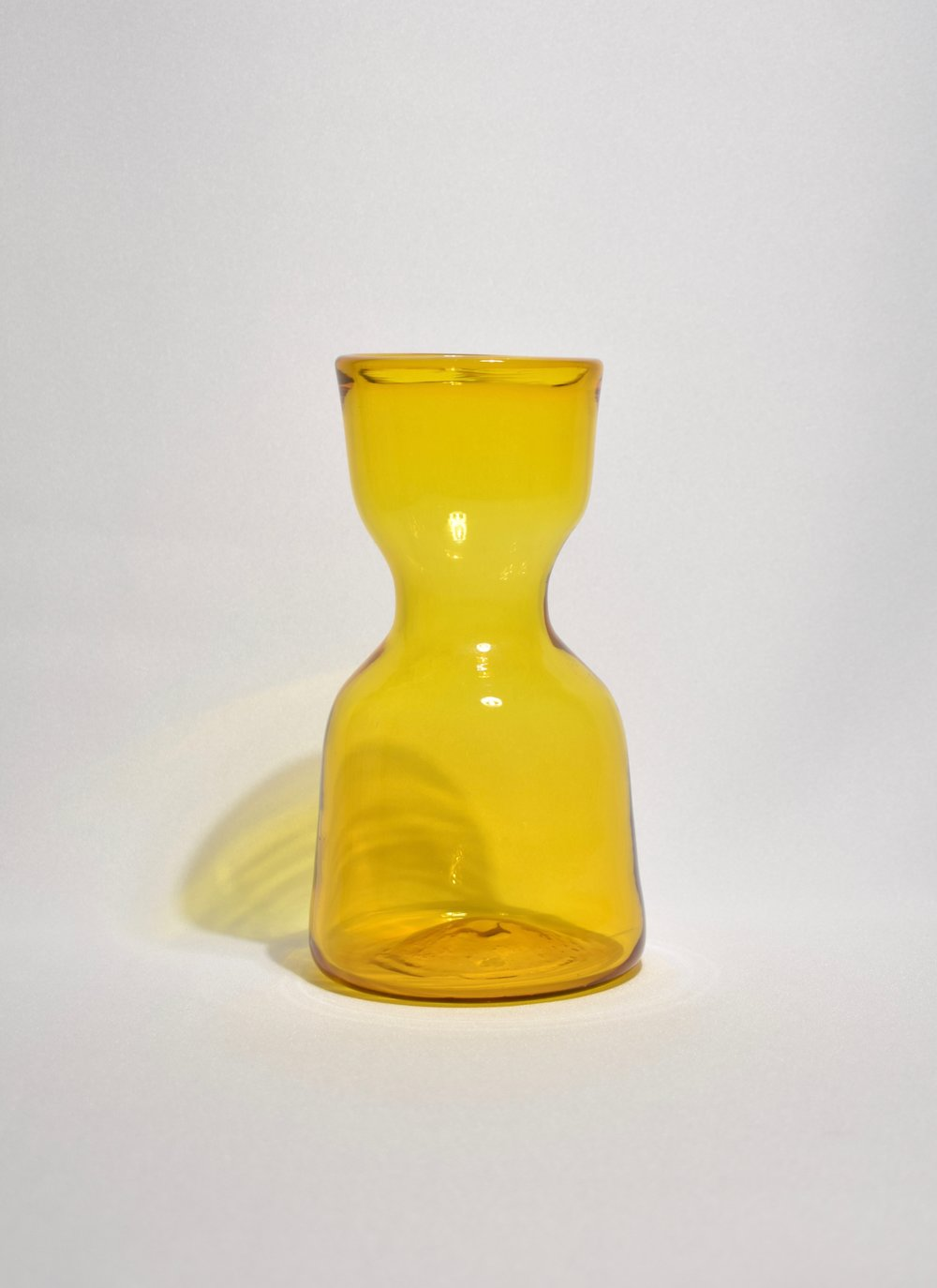 Marigold Glass Sculptural Vase