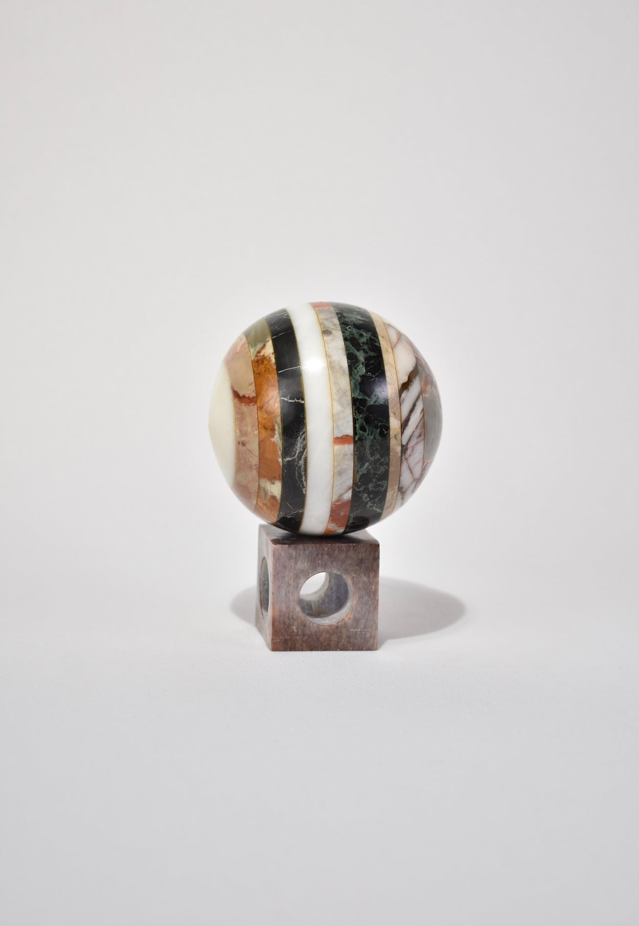 Striped Sphere Sculpture