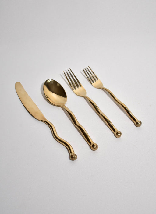 Sphere Flatware Set in Bronze