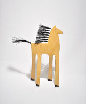 Tall Ceramic Horse Sculpture